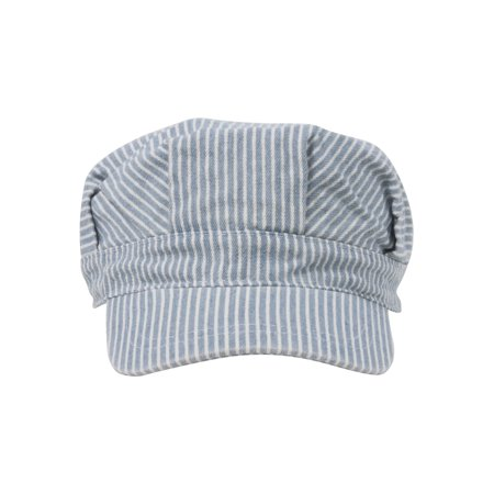 Conductor's Cap Light Blue Stripe, - Capes For Adults