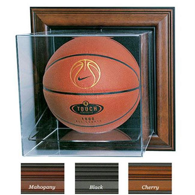 Caseworks International CAS-BB-401-CU-M Case-Up Basketball Display Case - No Logo - Mahogany