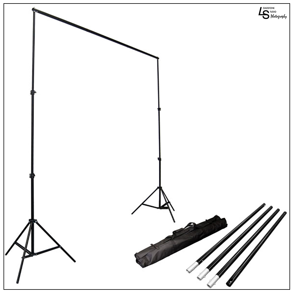 Loadstone Studio Photo Video Studio 10Ft Adjustable Muslin Background Backdrop Support System Stand, WMLS1400
