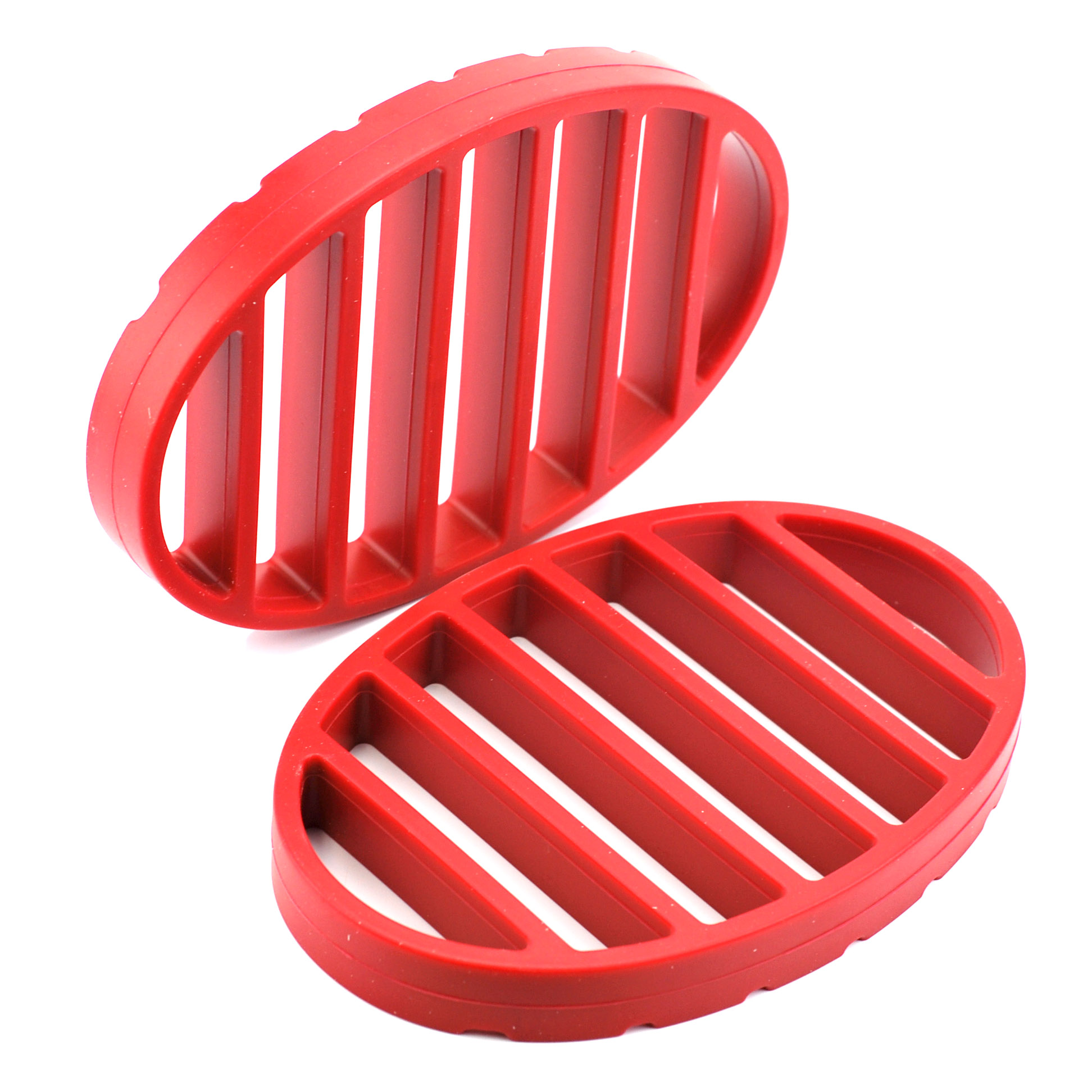 Flat Roasting Rack, Nonstick Turkey Roasting Pans With Rack Red (pack Of 2) by Norpro Kitchenware
