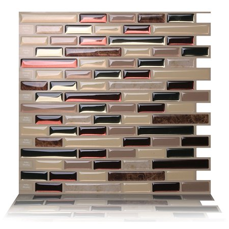 Tic Tac Tiles - Premium Anti Mold Peel and Stick Wall Tile Backsplash in Como Mare ()