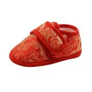 Ardorlove Baby Shoes Toddler Newborn Infantil Baby Crib Embroidery Princess Shoe Soft Sole Anti-Slip Prewalker Baby Girls First Walkers