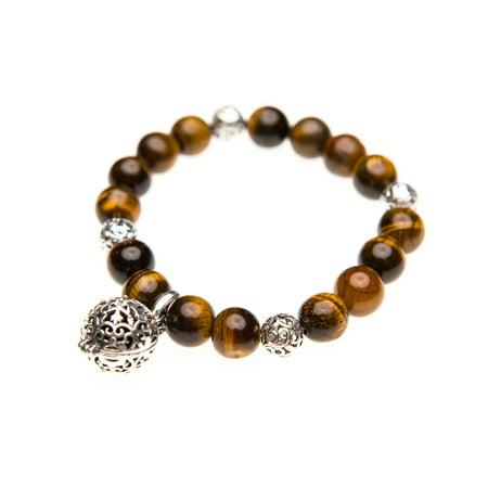 Bandz Stretch Bracelet (Essential Oil Diffuser Aromatherapy Bracelet Tiger Eye Gemstone Beaded Stretch)