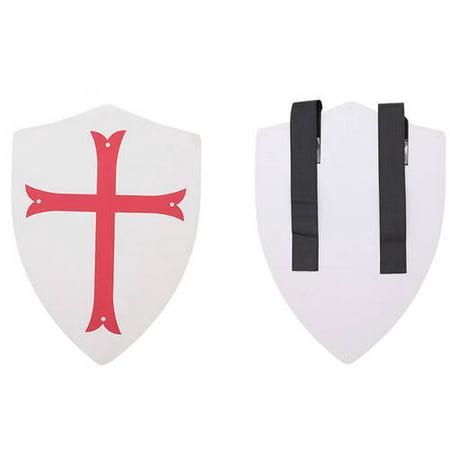 Hero's Edge Foam Shield, White with Red Cross,