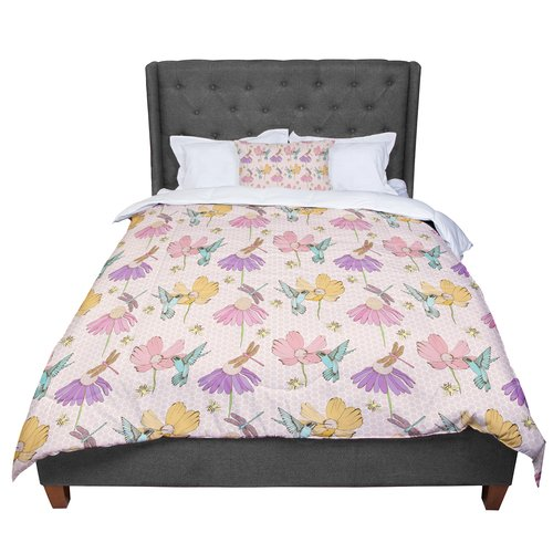 Msi East Urban Home Laura Escalante Magic Garden Comforter