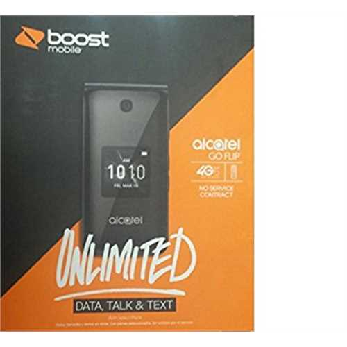 Boost Mobile Alcatel Go Flip Prepaid Cell Phone