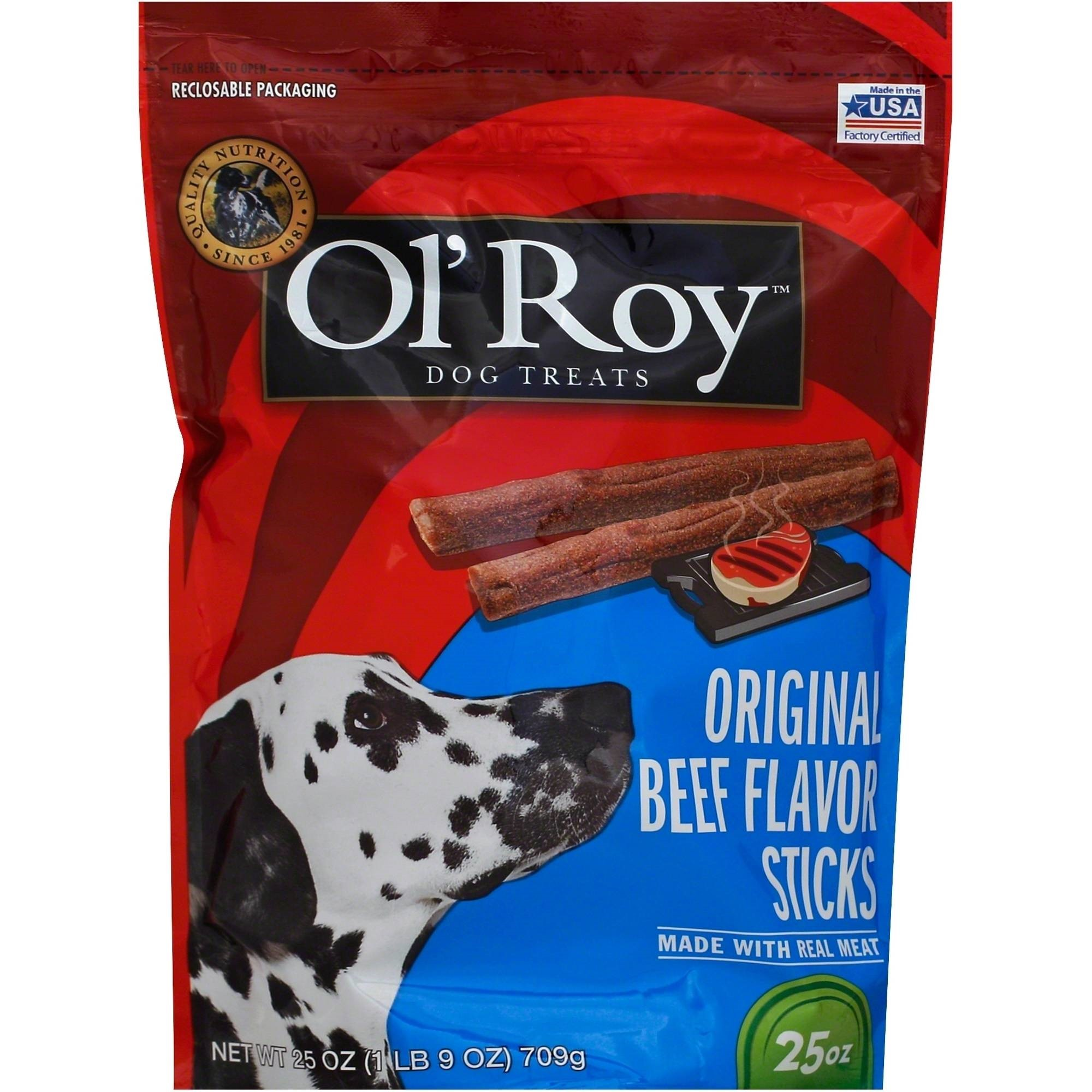 Ol\' Roy Jerky Sticks With Real Beef Dog Treats, 25-Ounce