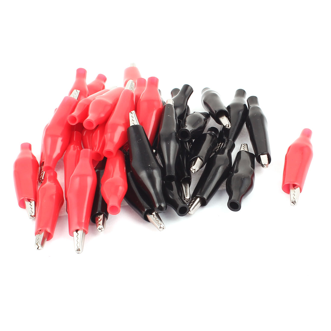 36 Pcs Crocodile Alligator Test Clip for Electrical Jumpers Wire Cable Red Black