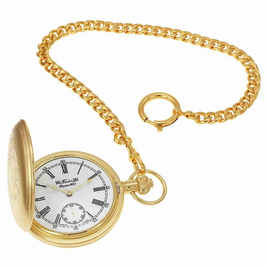 Tissot Savonnette Mechanical Golden Brass Pocket Watch T8...