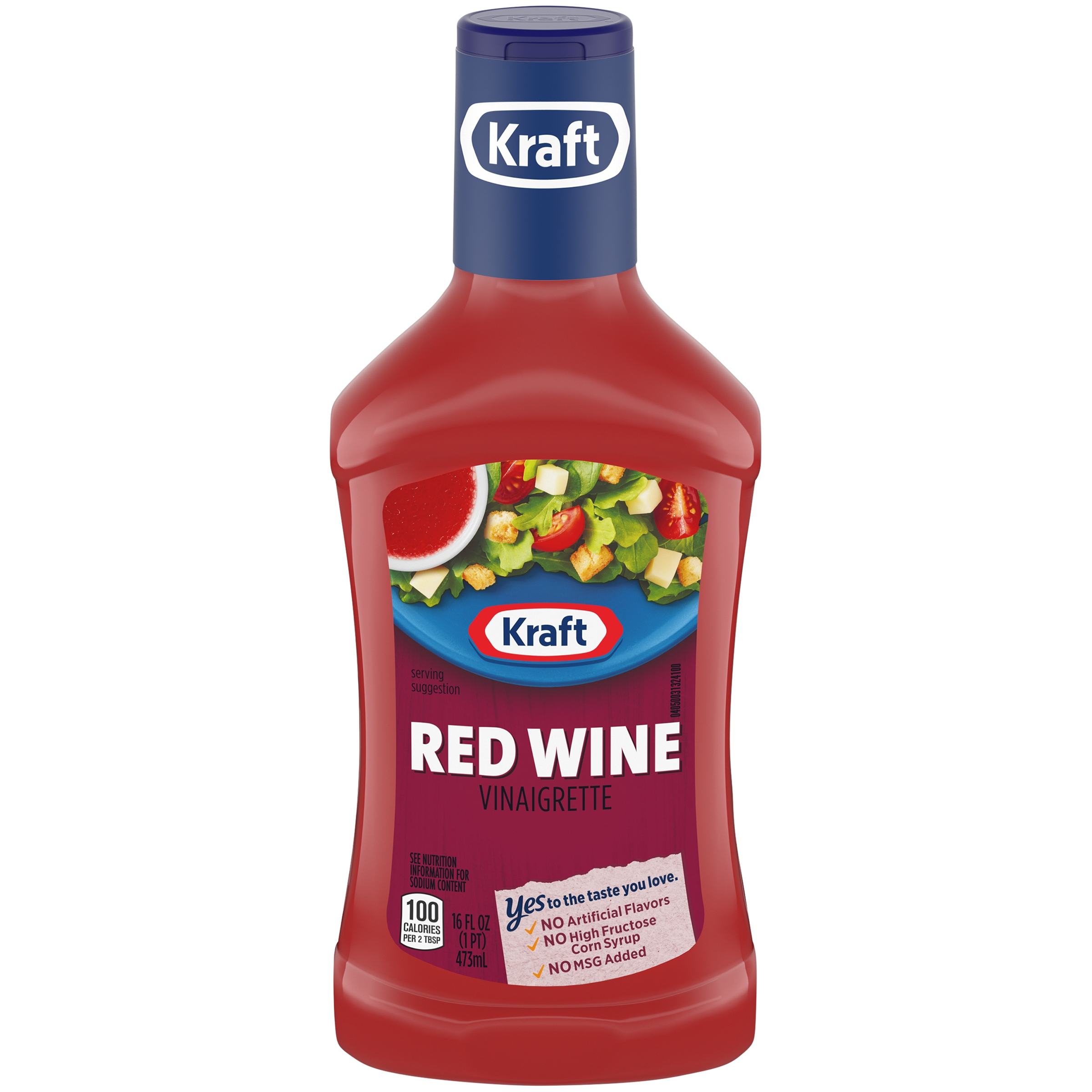(3 Pack) Kraft Red Wine Vinaigrette Dressing, 16 Fl Oz Bottle