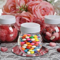 Efavormart 12 Pack Plastic Candy Jars Favor Container For Wedding Favors Gifts