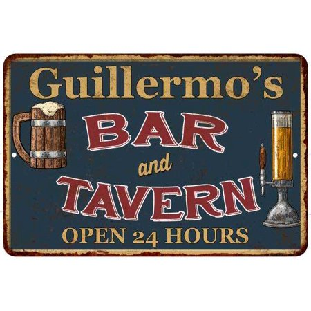 Guillermo's Green Bar & Tavern Personalized Rustic Sign Decor 8x12 208120047976 ()