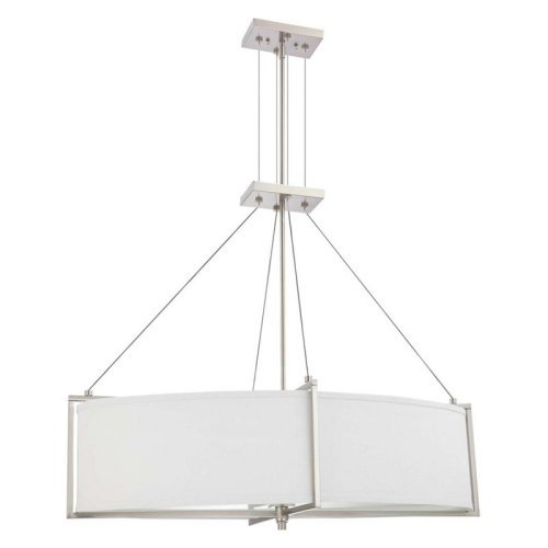 Nuvo Portia 60/4346 6-Light Oval Pendant - 19.25W in. - Brushed Nickel - ENERGY STAR