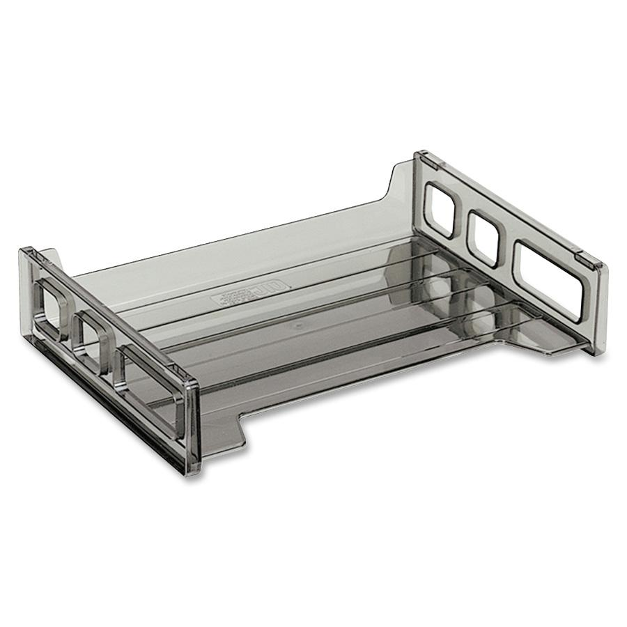 Officemate Smoke Side-Loading Desk Trays