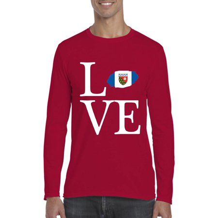 Love Canada Northwest Territories Men Softstyle Long Sleeve T-Shirt