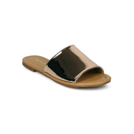 New Women Mark Maddux Ives-01 Open Toe Flat Slip On
