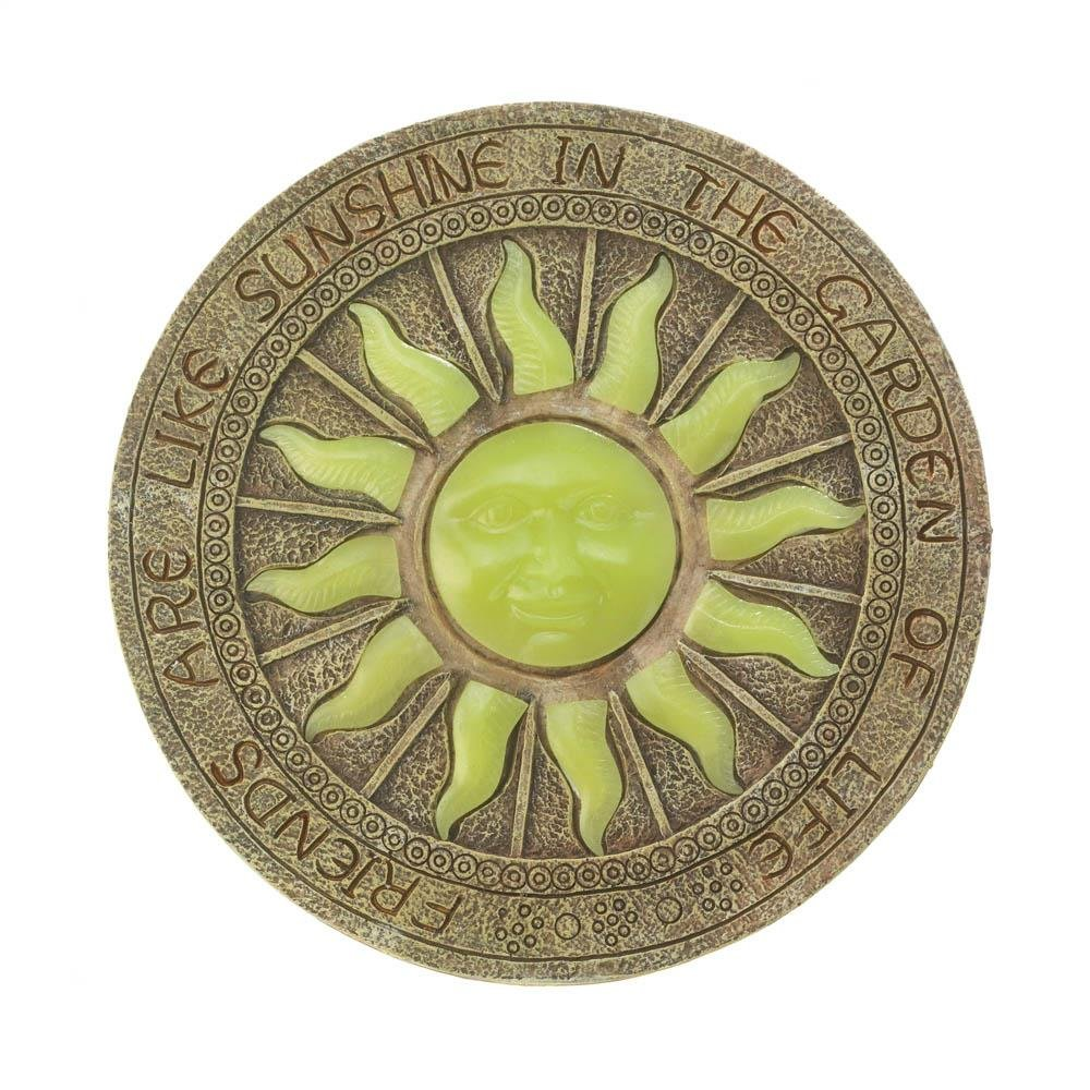 Stepping Stone For Garden, Bursting Sun Decorative Outdoor Stepping Stone Wedding (Sold by Case, Pack of 8) by SUMMERFIELD TERRACE