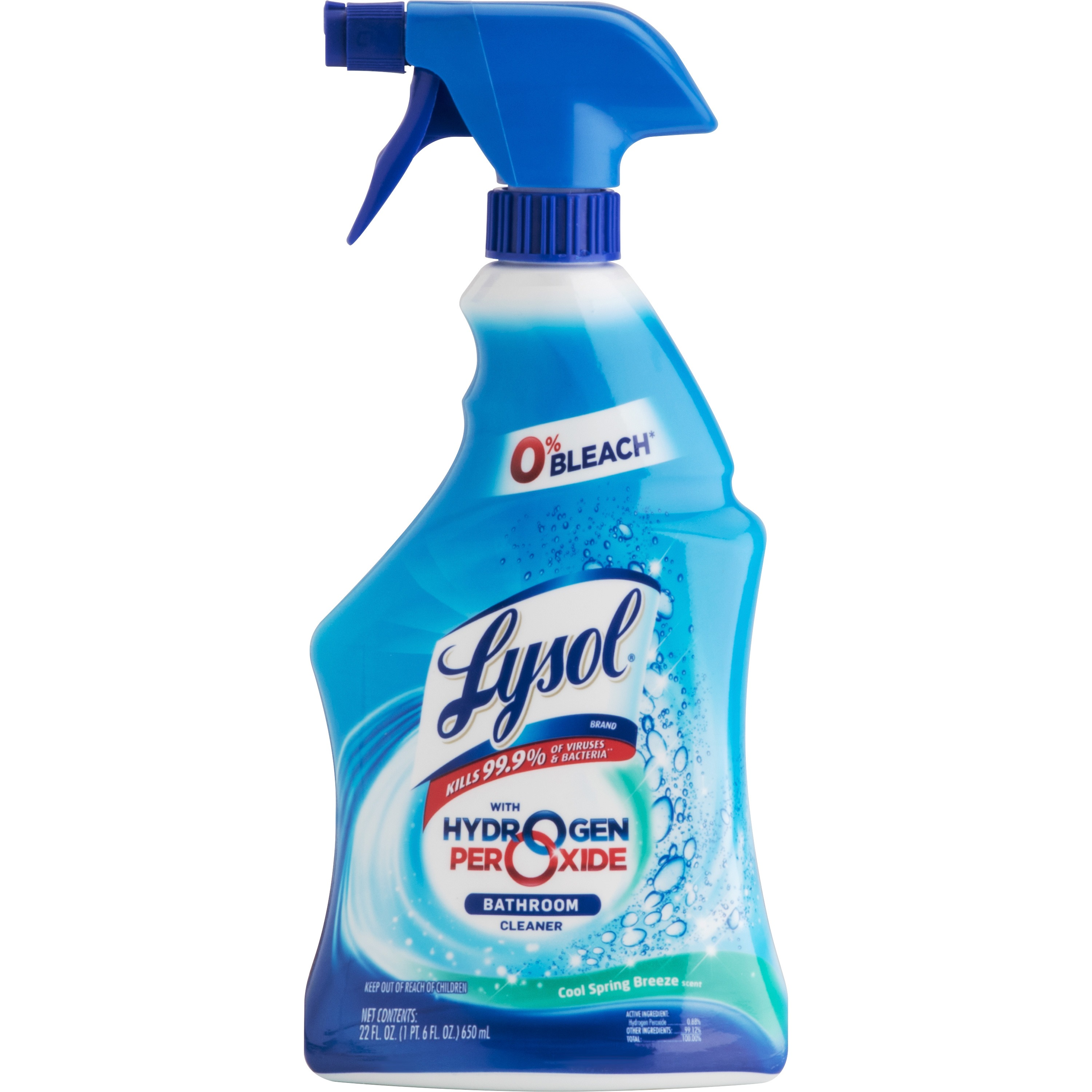 Good Lysolu0026reg; With Hydrogen Peroxide Bathroom Cleaner   Cool Spring Breeze ...