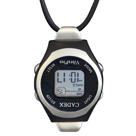 Cadex | VibraPlus Nurse | Alarm Pendant/Necklace Watch with 8 Vibrating and Audible/Sounding Alarms