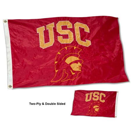 USC Trojans Trojan Head 3' x 5' Two Sided Nylon Flag Usc Trojans Pennant