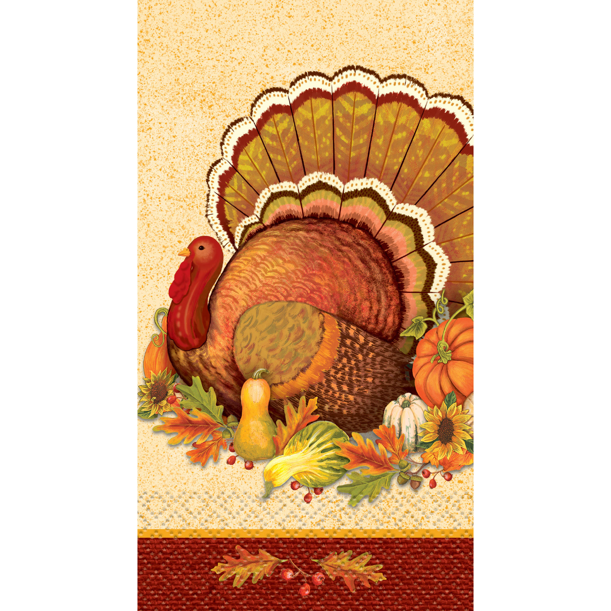Give Thanks Thanksgiving Paper Guest Napkins, 7.75 x 4.5 in, 16ct