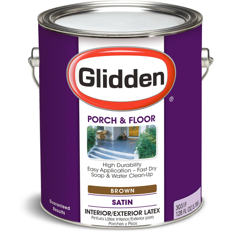 Glidden Porch & Floor Paint, Grab-N-Go, Eggshell Finish, Brown, 1 Gallon