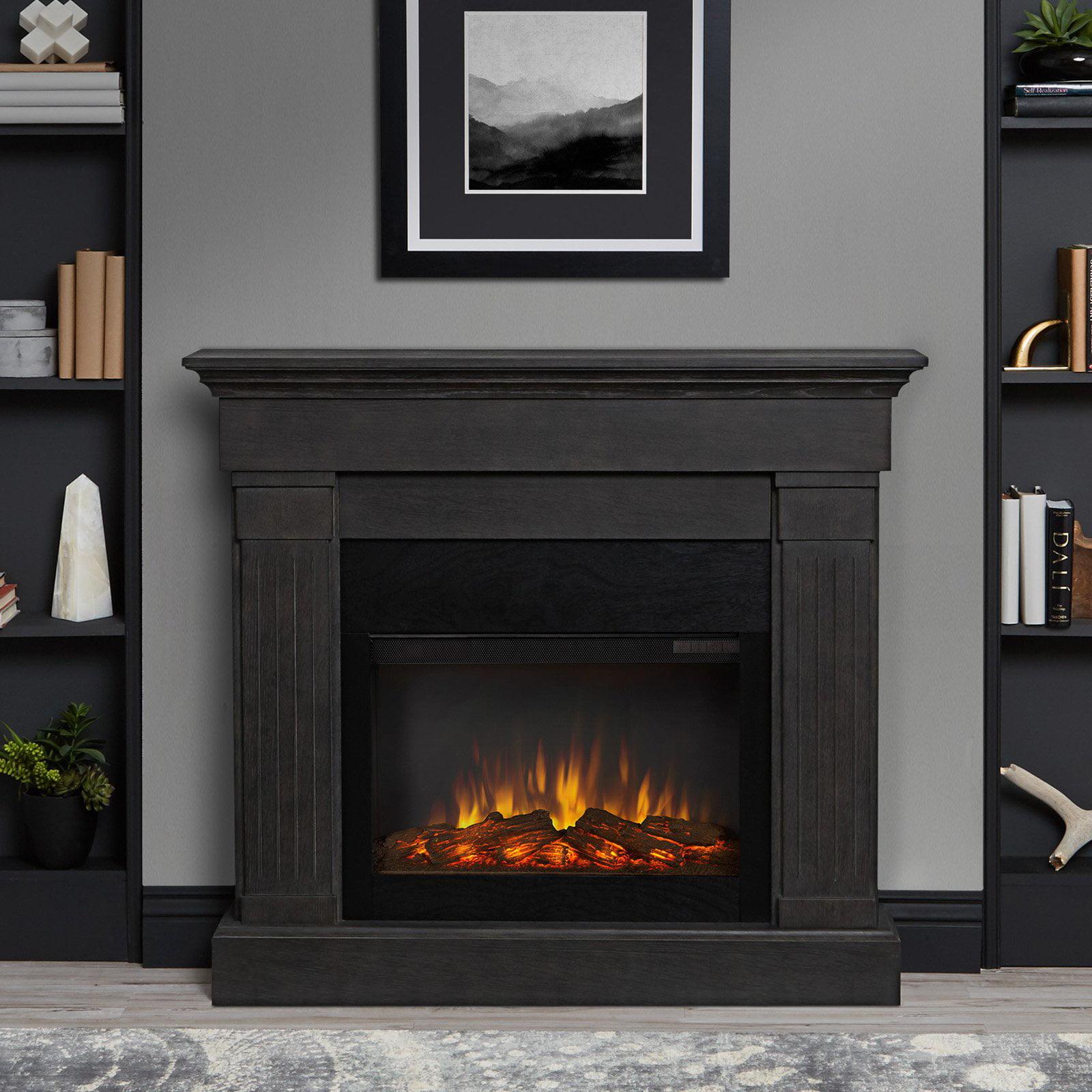 Real Flame Crawford Slim Line Electric Fireplace - Walmart.com