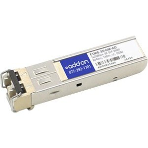 AddOn Brocade E1MG-SX-OM Compatible TAA Compliant 1000Base-SX SFP Transceiver (MMF, 850nm, 550m, LC, DOM) – 100% appli