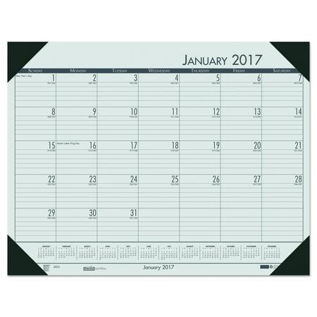 Ecotones Monthly Desk Pad Calendar (House of Doolittle Recycled EcoTones Woodland Green Monthly Desk Pad Calendar, 22 x 17, 2018 )