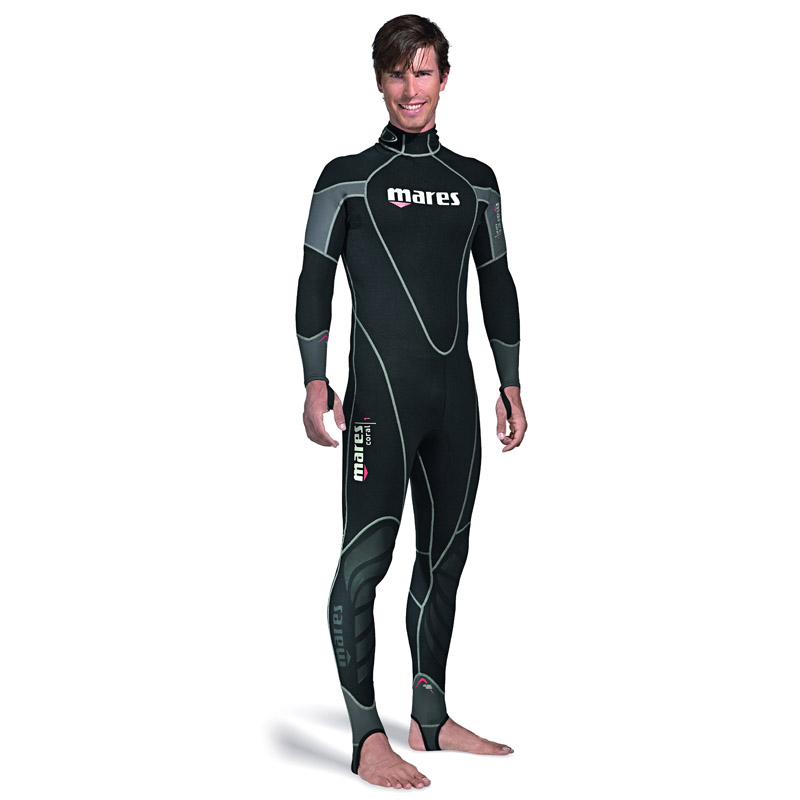 Mares Mens Coral 1mm Wetsuit, Black, XL