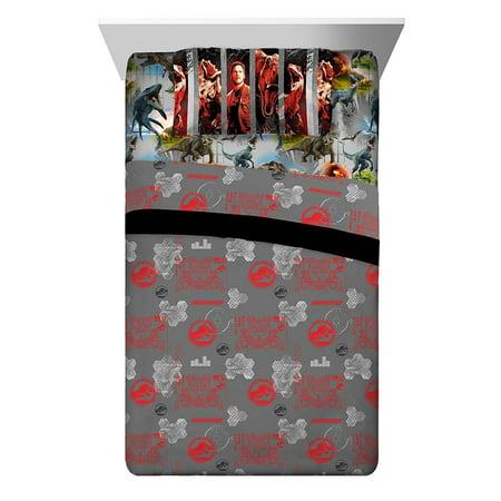 Jurassic World Fallen Kingdom Soft Microfiber Bedding Sheet Set, Full Size 4 Piece - image 1 of 1