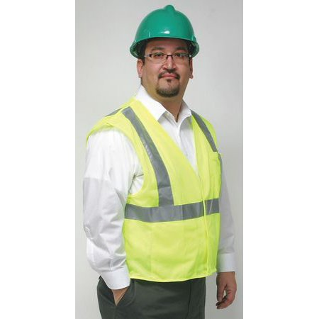 CONDOR Flame Resist Tear Away Vest,4XL,Lime 4CWA3