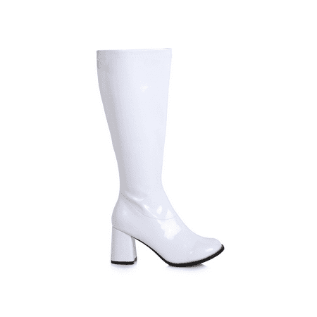Women's 3 inch Wide Width GoGo Boot - White Gogo Boots Size 8
