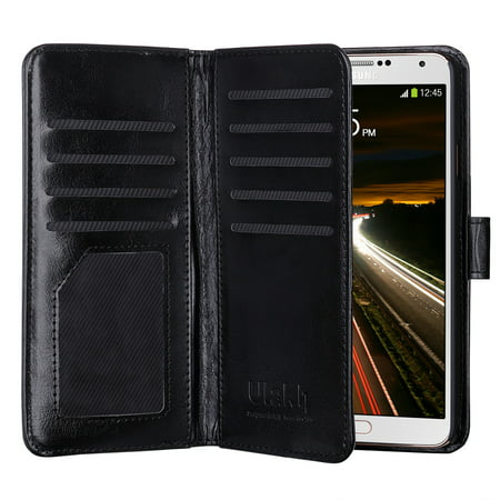 detailed look aefff 31fd6 ULAK Galaxy Note 3 PU Leather Wallet Case Cover with 9 Credit Card Holder  Slots & Cash Slot Wrist Strap for Samsung Galaxy Note 3 N9000