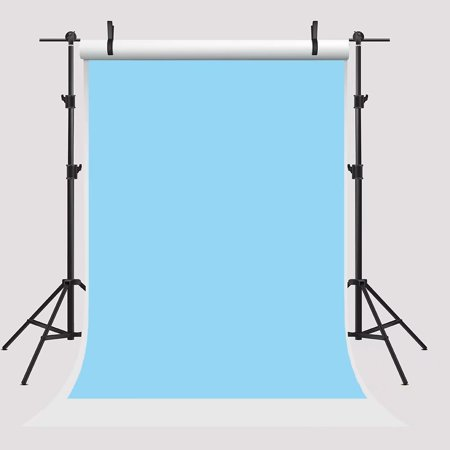 GreenDecor Polyster 5x7ft Photography Backdrops Blue Solid Backgrounds PHOTO Backdrop Birthday Backdrop Photo Backdrop for Booth Props