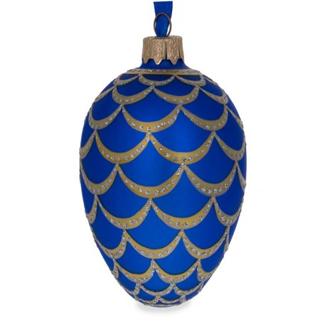 BestPysanky 1900 Pine Cone Royal Egg Glass Ornament