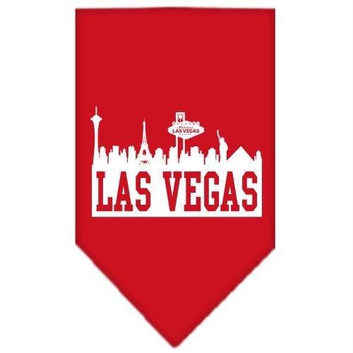 Las Vegas Skyline Screen Print Bandana Red Large