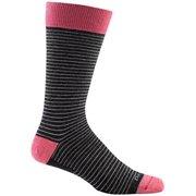 Darn Tough Vermont Merino Wool Classic Stripe Mid-Calf Sock - Men's Black Large