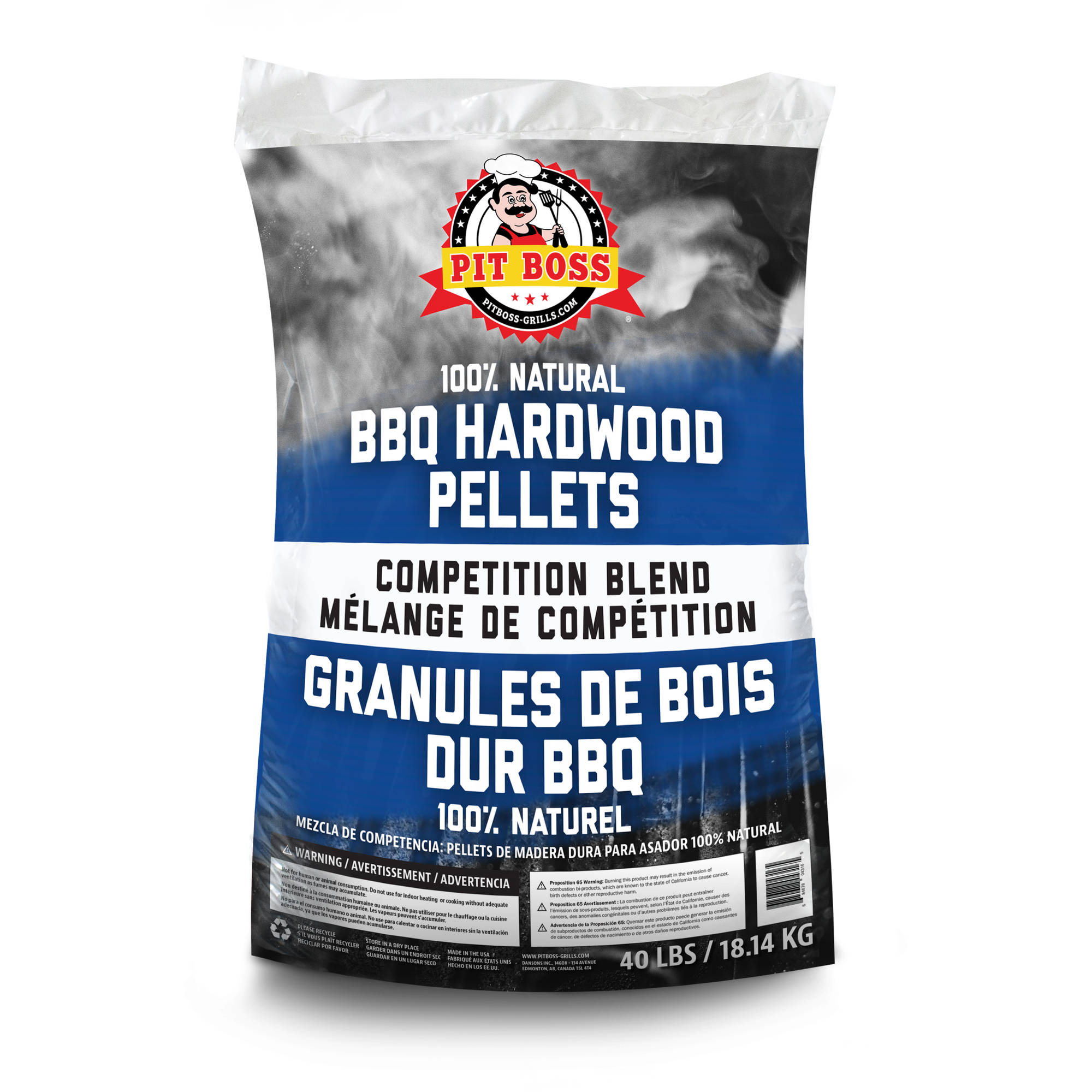Pit Boss BBQ Wood Pellets, Competition Blend, 40 lbs