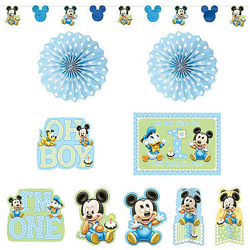Mickey's 1st Birthday Decorating Kit