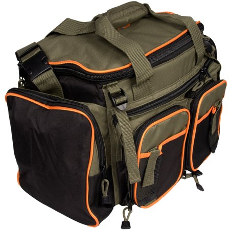 Full Size Hippo Fly Fishing Tackle Bag Gear Water Proof Resistant Pockets Outdoor Camp