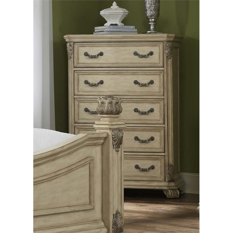 Liberty Furniture Messina Estates II 5 Drawer Chest in Antique Ivory