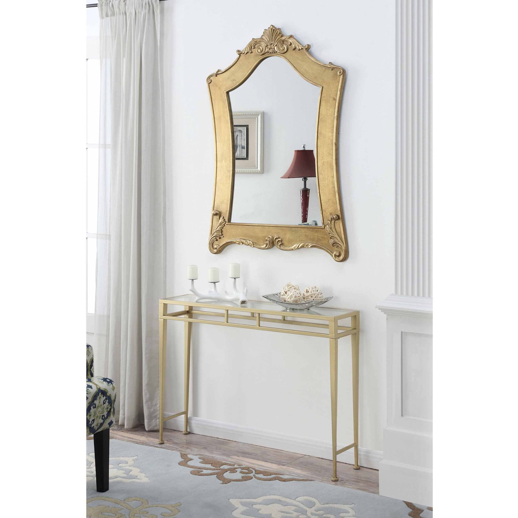 Convenience Concepts Gold Coast Victorian Gold Frame Mirror