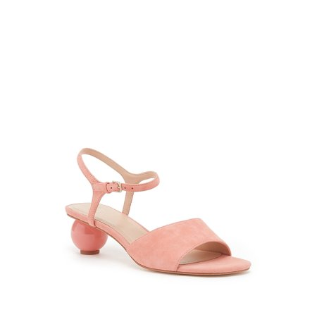 Pour La Victoire Dora Leather Sphere Heel Sandal, Rosebud (5.5)