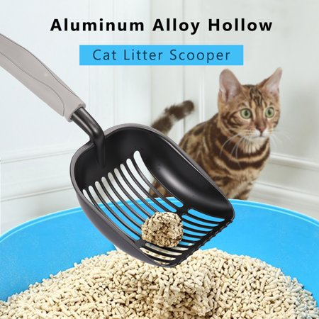Aluminum Alloy Hollow Cat Litter Scooper Litter Shovel Sifter with Long Handle Pet Poop Scooper Shovel Pet Cleaning Supplies Tools - image 1 of 7