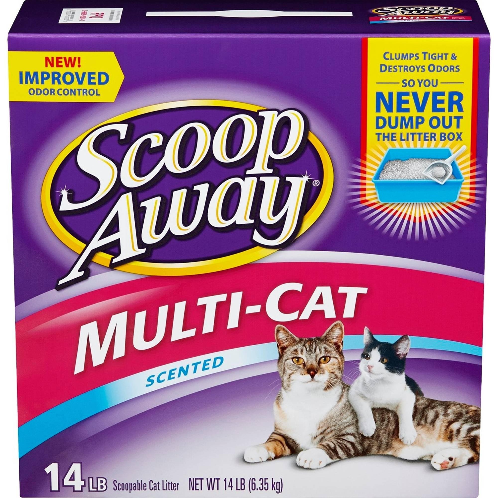Scoop AwayMulti-Cat, Scented Cat Litter, 14 lb Box