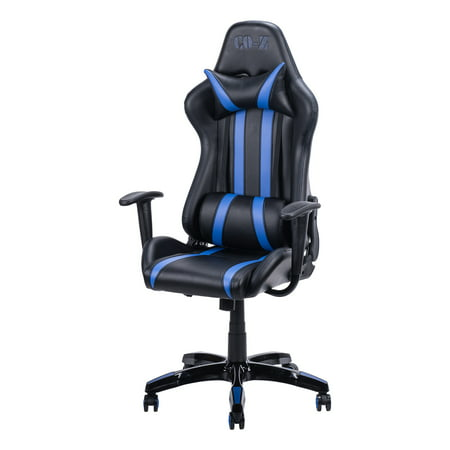Amazing Gaming Chair Racing Style High Back Reclining Pu Leather Office Chair Red Blue Light Bule Gmtry Best Dining Table And Chair Ideas Images Gmtryco