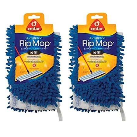 O Cedar Dual Action Microfiber Flip Mop Refill Pack Of 2
