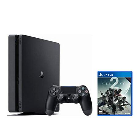 Ps4 Slim Bundle  2 Items   Playstation 4 Slim 1Tb Jet Black And Destiny 2 Game Disc