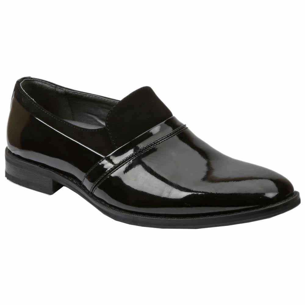 black tuxedo loafers